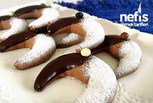 Kahveli çikolatalı ay kurabiyesi