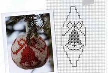 Схемы новогодних шаров