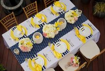 Yellow & Navy  / yellow & navy wedding inspiration for a spring garden celebration / by Bella Notte DC