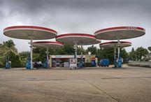 Benzinestations Petrolstations