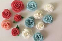flores de cerámica en frío