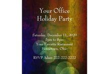 Festive Holiday Invitations