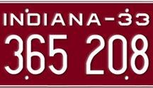 Indiana License Plates / To customize your old Indiana license plate, please click here http://www.licenseplates.tv/indiana-156.html?=