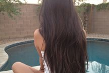 my long natural brown hair