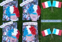 Bricolages pour la coupe du monde de foot par les p'tits loulous de Gaëla / Bricolages et activités des enfants/assistante maternelle