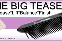 The Big Tease / The Big Tease, is a total styling tool, tease to a firm base or soft tease to add bounce and movement to styles. Using the 5 Surgical Stainless steel prongs to lift, smooth and finish today's styles.