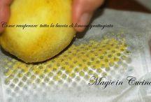 Recuperare la buccia del limone