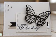 butterfly basics & watercolour wings / cards & ideas based on stampin up butterfly basics stamp set & thinlets