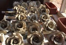 Making Large Clay Roses