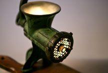 Vintage mincer lamp