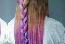 Farge i håret og flette