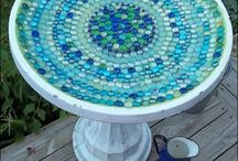 mosaic table outdoor