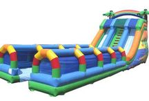 Inflatable Double Slip n Slide with Pool for Sale / http://bestoninflatablebounce.com/inflatable-slip-and-slide-for-sale/