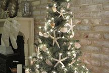 White Christmas in classic style / White Christmas in classic style, without shaby, without rustic