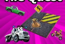 Tile Quest : Service Roads / Free android APP. You must find the position of all the hidden cars on your screen. You can see at first the position of the crash tiles. Remind it and make your quest. Once you find all your score increases and you can pass the next levels. Use your points to get new stages of the map road services.