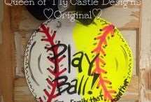 Take Me Out to the Ballgame / Painted baseballs