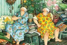 веселые старушки и старички