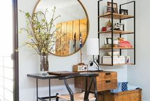 Over desk shelving and Deco