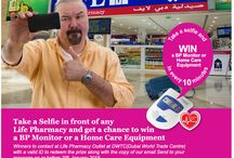 TAKE A SELFIE, POST AND WIN / Take a #selfie in front of any LIFE Pharmacy in #UAE and get a chance to win a BP Monitor or a Home Care Equipment. Post your selfie on LIFE Pharmacy facebook Page, 6 winners every hour from 10am to 7pm for 4 days starting 26th of January 2015. Winners will be announced through our page and winners to contact LIFE Pharmacy Dubai World Trade Centre on or before January 29th 2015 until 11pm to redeem their gifts.