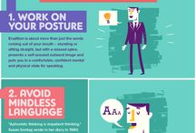 Presentation Skill Infographics / Communication Skills, Speaking Habits, Effective Presentation, Public Speaking, Fear, Confident, Great Presentation, Presentation Facts, TED Talks, First Impression, Great Presentation