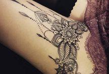 thigh tattoos