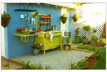 Shed - potting shed & bench