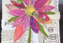 Ideas for Fabric art journal