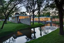 Ranch Home Goes Modern / Making the most of a wooded lot and interior courtyard, Braxton Werner and Paul Field of Wernerfield Architects transformed this former 1960s ranch house to an inviting yet unapologetically modern home.