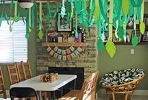 Jungle party / I planned a jungle themed party for my son's 1st birthday and here's where I got some ideas.  / by Joy Adan