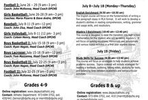 Summer Spartans  / Check out our summer programs including sports camps and enrichment camps here at DePaul Catholic!