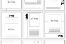 Mini Album Pages / Teeny Tiny Layouts