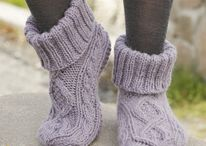 Ponožky pletené / Knitted socks and slippers (some crochet too)
