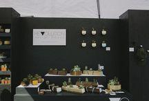 Market stall set ups