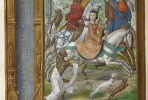 Medieval horses / Pictures of medieval horses and thro riders.