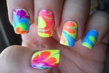 nail art / bright colors,colorful,colorful nails,diy,fashion,rainbow,rainbow nails, and sexy.