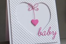 Baby Karte mit Herz
