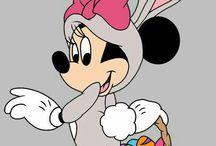 Húsvét- Mickey és Minnie