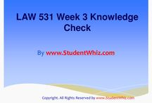 LAW 531 Week 3 Knowledge Check