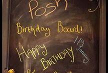 The Posh Birthday Board! / Celebrating all our lovely Posh birthdays!