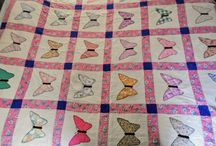 Grandma's Quilts / Quilt tops I inherited and I quilted into finished quilts by hand