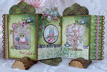 Sugar Hollow Collection / The Sugar Hollow Collection has an adorable family of wide eyed and lovable owls who inhabit the beautiful and enchanting forest like surroundings. A whimsical assortment of beautifully illustrated stamps showcase images of ornamental bird houses, lovely trees and a wide selection of owl images which can be used to design for a wide variety of occasions. The designer papers include pink, greens and purple hues.