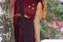 Self potrait / A traditional Nepali wear, designed by myself.