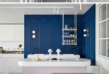 Blåfarger vegg