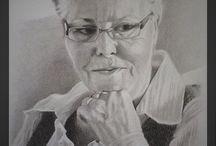 portrettekeningen - portrait drawings / portrettekeningen van personen
