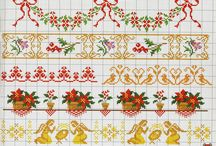 Cross Stitch Flower and Bordure
