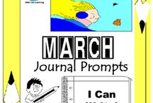March Writing Prompts Quick Writes / March Writing Prompts Quick Writes. Creative writing prompts for everyday in the month of March. ****************************************************************************** Though your students may not have highly developed writing skills to express their thoughts, they do have bright imaginations filled with all sorts of creative ideas. *************************************************************************