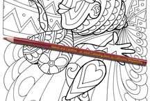 Naked and Carefree: an Adult Colouring Book by Catherine Nessworthy / 30 coloring pages of different degrees of difficulty. The designs are of happy naked ladies enjoying life. Some designs are silly, others are more elegant. This is a great way to creatively engage in improving confidence and creating a positive self-image.