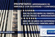 Arriendos Avacol / ARRENDAMOS SU INMUEBLE CON SEGURIDAD Y CONFIANZA. MÁS DE 20 AÑOS DE EXPERIENCIA EN EL MERCADO INMOBILIARIO