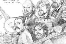 Caricaturas en grafito / Galería de dibujos en grafito sobre papel
