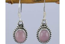 925 Silver Earrings With Gemstone / Light Weight Sterling Silver Earrings with plain Gemstones and beautiful Designs.